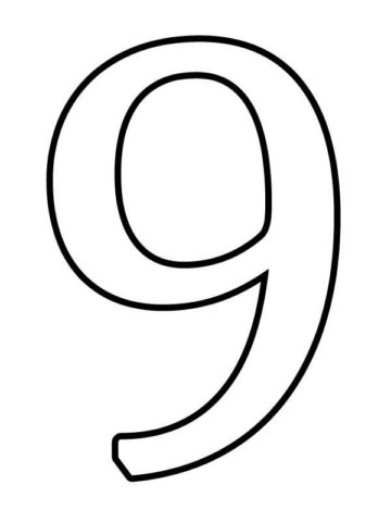 Схема шаблон цифры 9