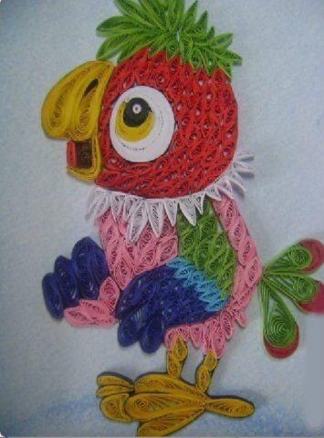 Пример квиллинг попугая