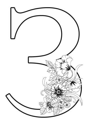 Схема шаблон цифры 3