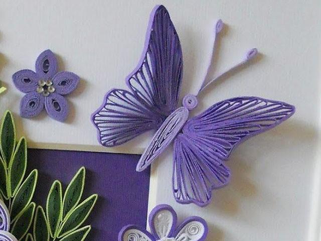 Пример квиллинг бабочки