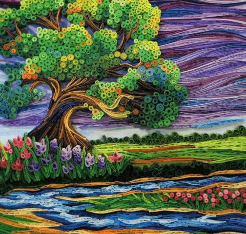 Готовый квиллинг пейзаж