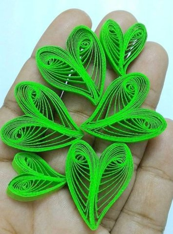 Пример квиллинг листьев