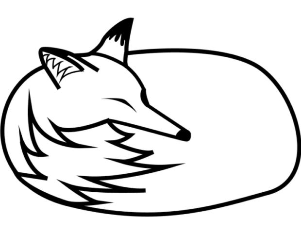 Картинка для раскрашивания лисичка
