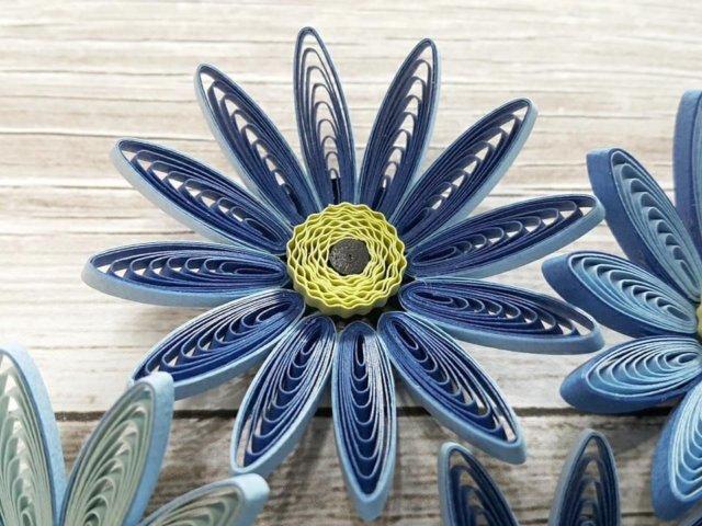 Пример квиллинг цветочка