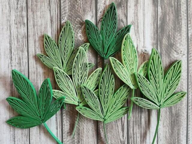 Готовые квиллинг листья