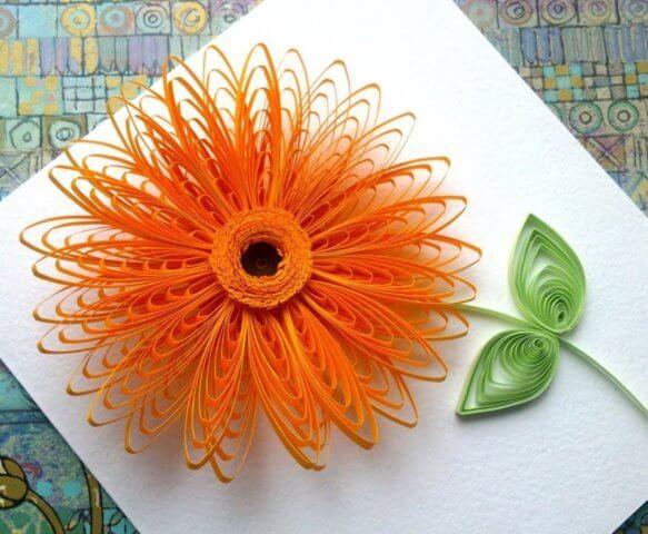 Готовый квиллинг цветок