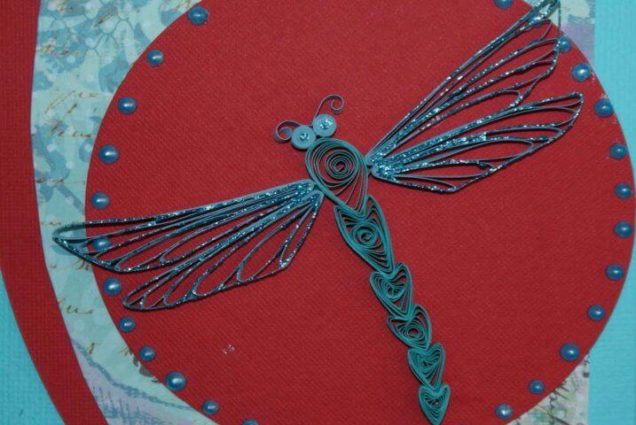 Квиллинг стрекоза в петельчатой технике