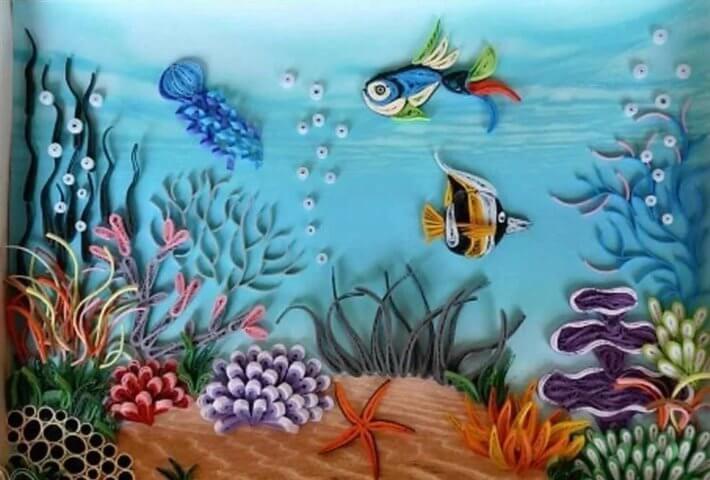 Готовая работа с подводным пейзажем