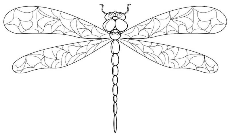 Схема шаблон Стрекозы