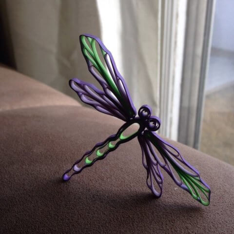 Объёмная петельчатая квиллинг стрекоза