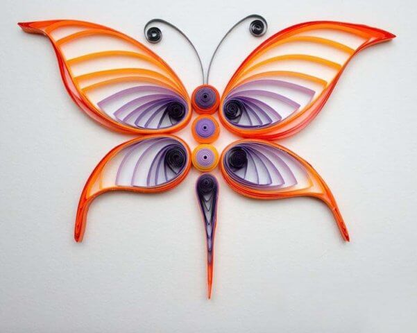Квиллинг стрекоза похожая на бабочку