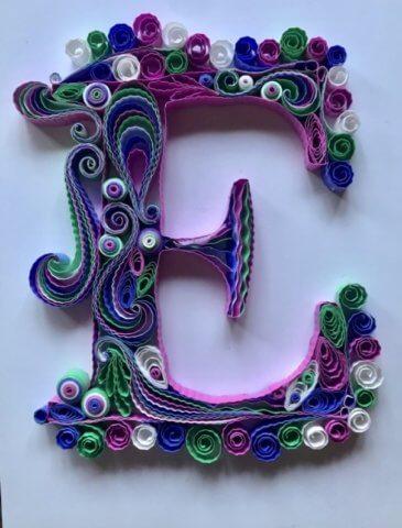 Готовая буква Е русского алфавита