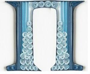 Готовая квиллинг буква П русского алфавита