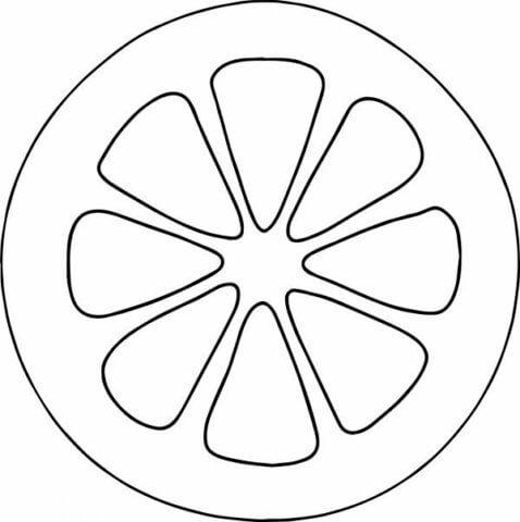 Схема шаблон брошки Лимон