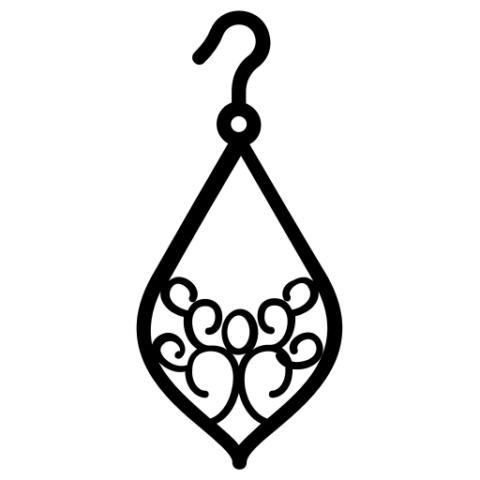 Схема шаблон для квиллинг сережек