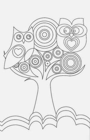 Схема шаблон бумажного дерева