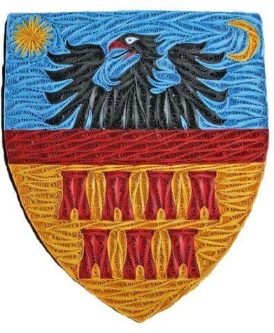 Герб Трансильвании в стиле квиллинга