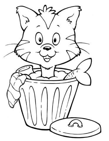 Схема шаблон бумажного кота