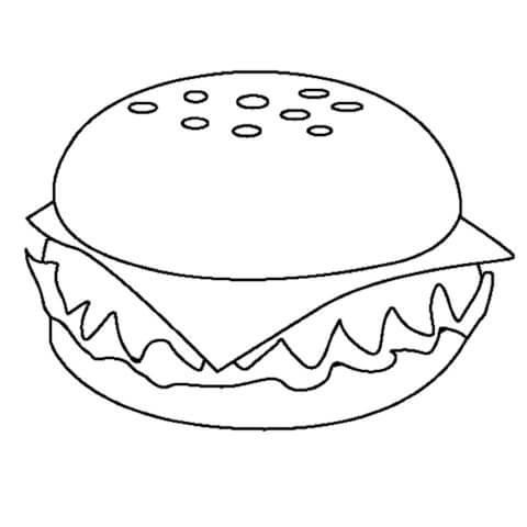 Схема шаблон бумажного чизбургера в технике квиллинга