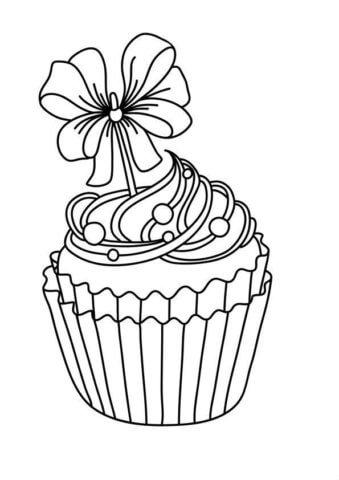 Схема шаблон бумажного кекса в технике квиллинга
