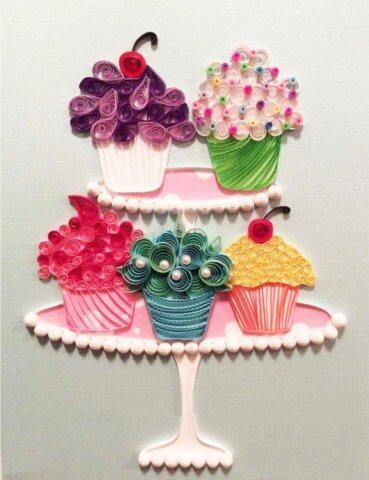 Кексы в стиле квиллинга