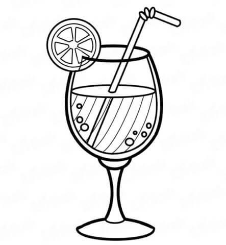 Схема шаблон бумажного коктейля в технике квиллинга