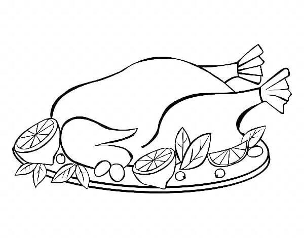 Схема шаблон бумажного блюда с курицей в технике квиллинга