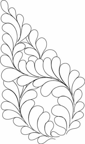 Схема шаблон бумажной поделки в стиле технике квиллинга