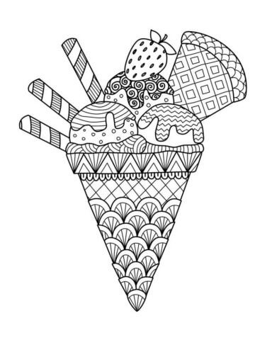 Схема шаблон бумажного мороженного в технике квиллинга