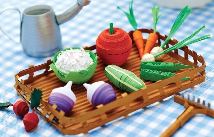 Овощи в стиле квиллинг