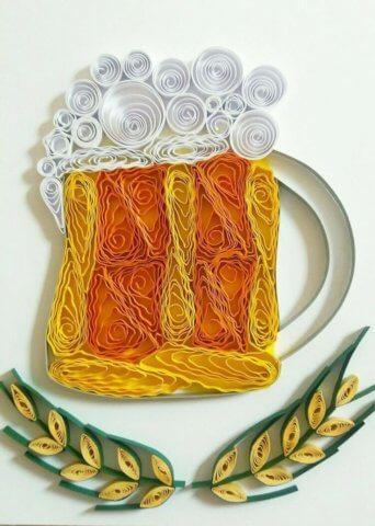 Пивная кружка в стиле квиллиг
