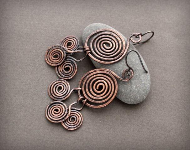 Квиллинг серьги из металла