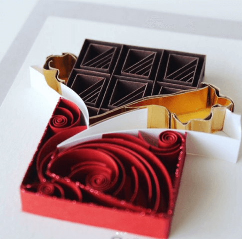Шоколад в стиле квиллинг