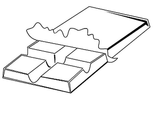 Схема шаблон бумажной шоколадки в технике квиллинга