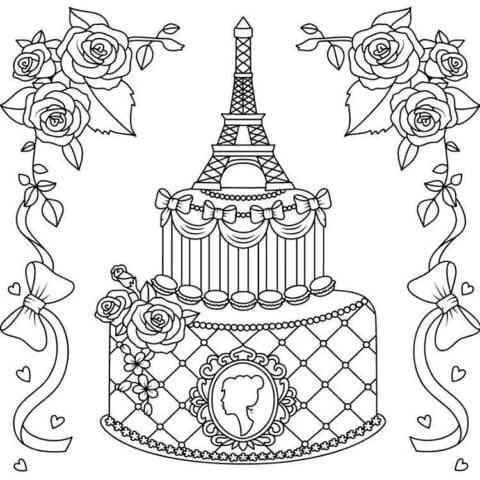 Схема шаблон бумажного торта в технике квиллинга