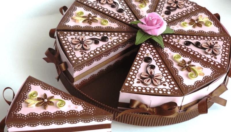 Торт в стиле квиллинг
