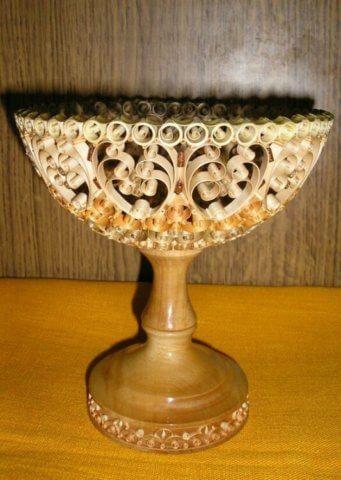 Квиллинг ваза из дерево