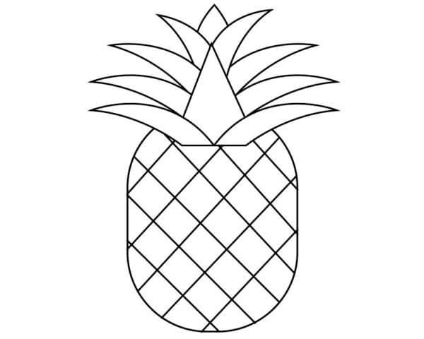Схема для распечатки в виде ананаса