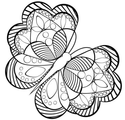 Схема для распечатки в виде бабочки