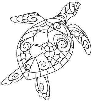 Схема для распечатки в виде черепахи