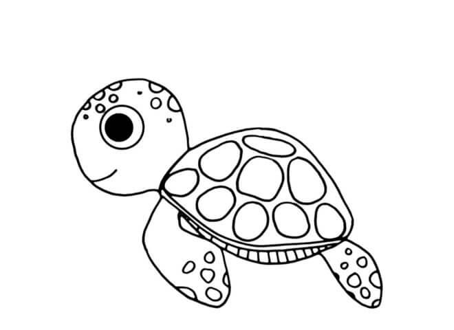 Схема для распечатки в виде черепашки