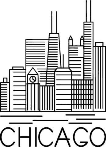 Схема для распечатки в виде города