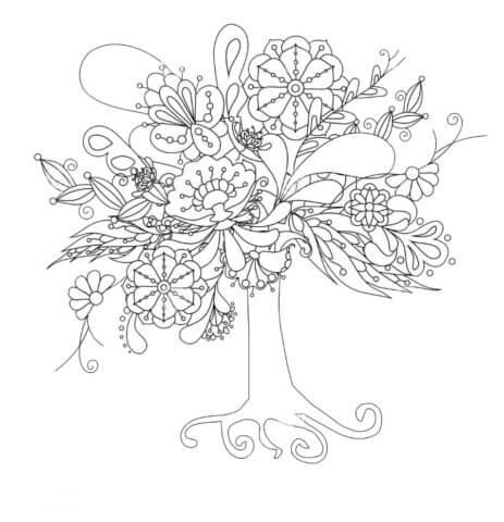 Схема для распечатки в виде дерева