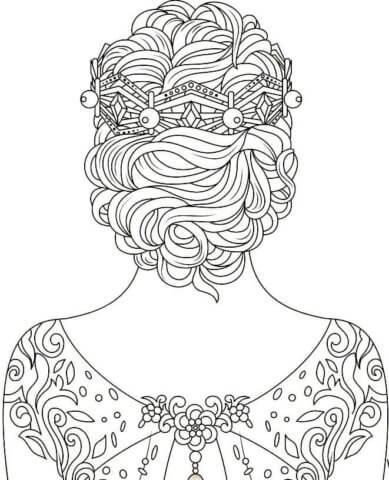 Схема для распечатки в виде девушки сзади