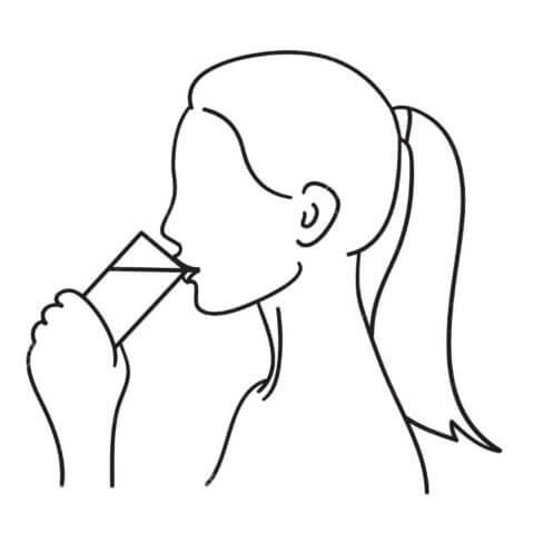 Схема для распечатки в виде девушки