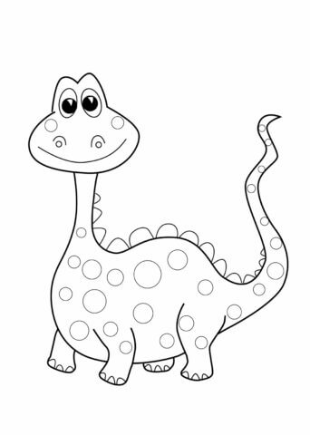 Схема для распечатки в виде диназавра