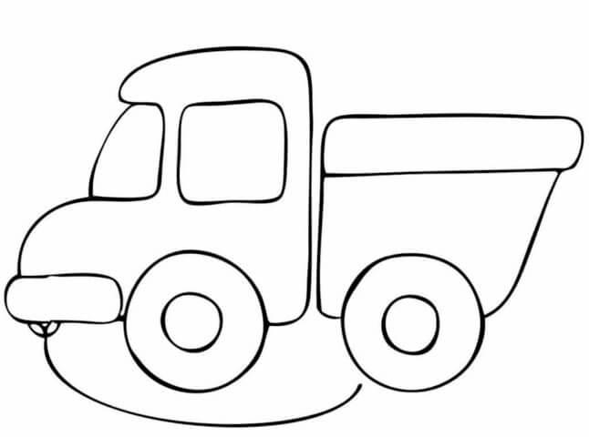Схема для распечатки в виде грузовика