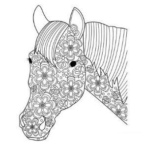 Схема для распечатки в виде лошадей