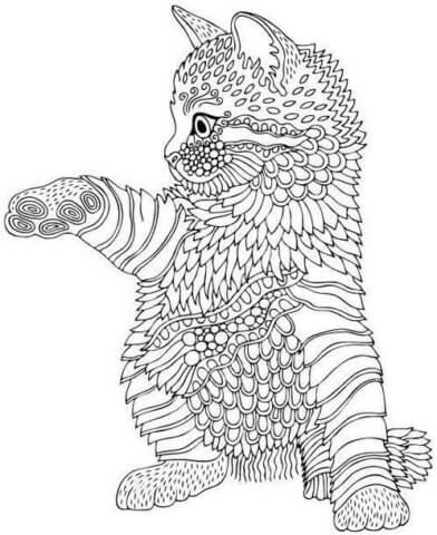 Схема для распечатки в виде кошки