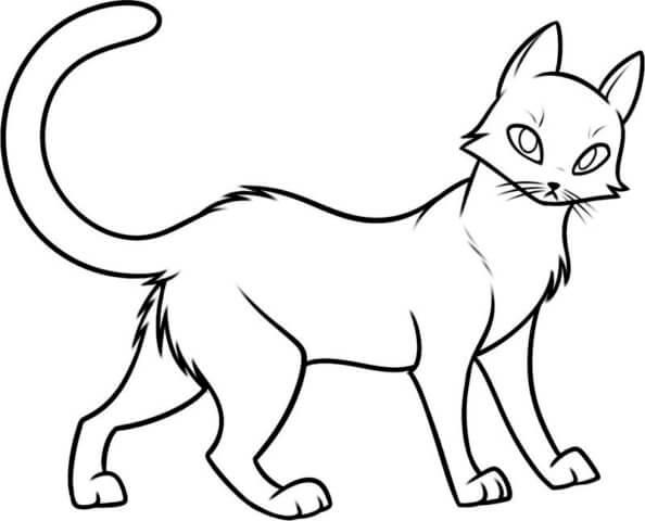Схема для распечатки в виде котика